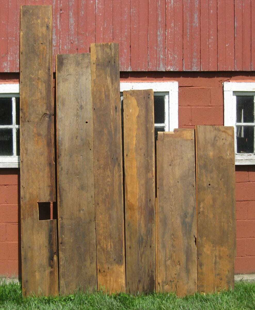 Reclaimed Wide Plank Antique Red Pine Flooring (aka
